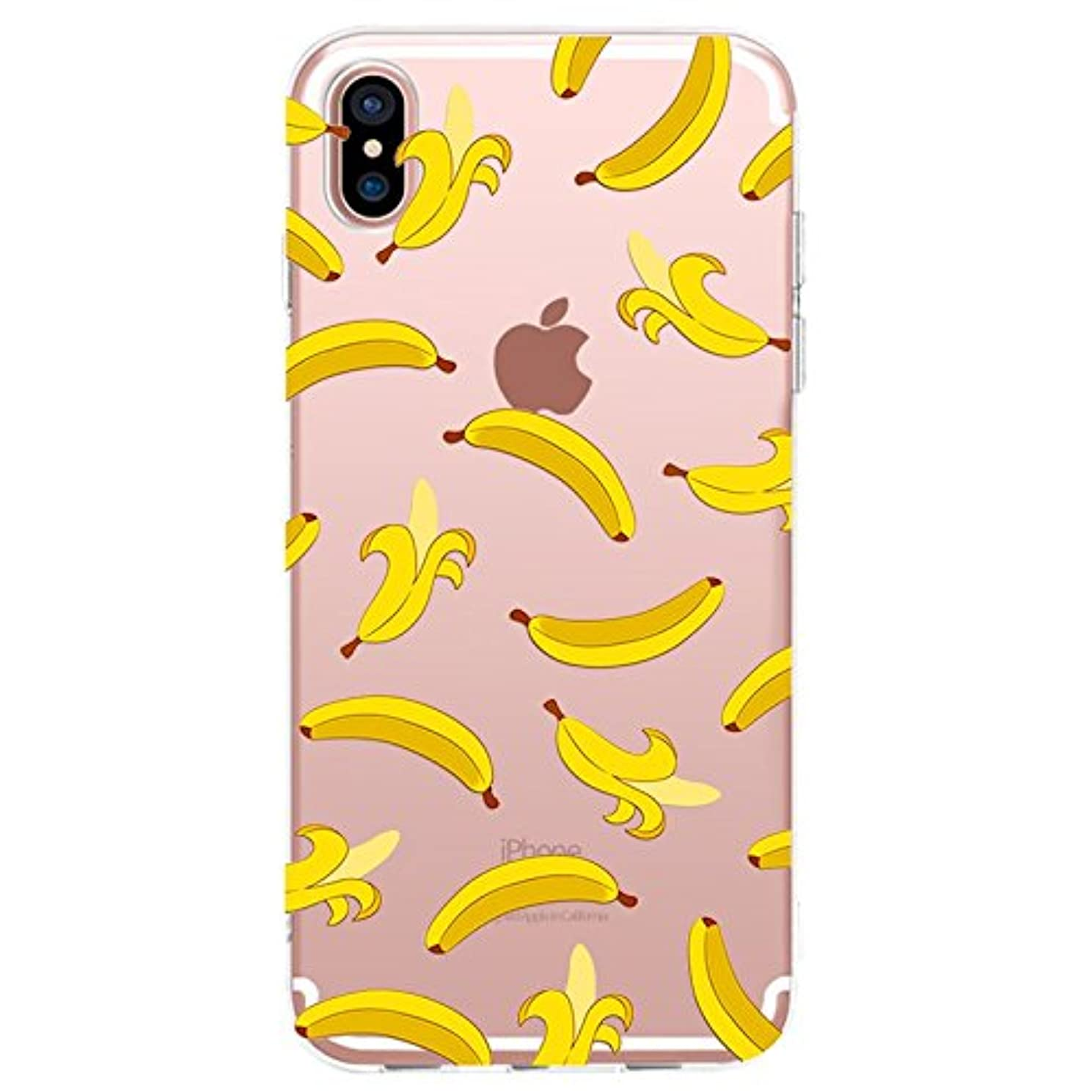 iPhone XR Case,Blingy's New Fruit Style Transparent Clear Soft TPU Protective Rubber Case Compatible for iPhone XR (Banana)