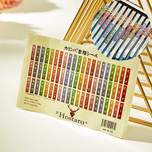 Hostaro Karimba Musical Scale Stickers, Transparent, 17 Keys, Compatible with 21 Keys, Beginners, Introduction, Katakana Rules Sticker, 1 Piece (3 Units)