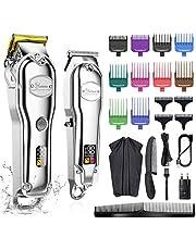 Hatteker Tondeuse voor mannen, professionele tondeuse, baardtrimmer, baardtrimmer voor heren, IPX7 waterdichte T-mestrimmer, USB-oplaadbaar