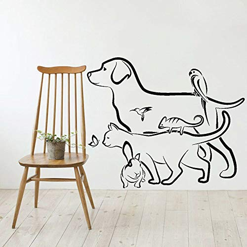 Tiere Wandaufkleber Veterinary Pet Shop Hund Katze Kaninchen Vinyl Wandtattoo Kunst Home Decoration Schlafzimmer Abnehmbare Tapete 42x50CM