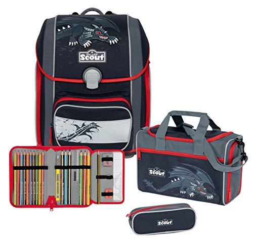 SCOUT Genius mochila escolar con accesorio juego de 4 piezas.