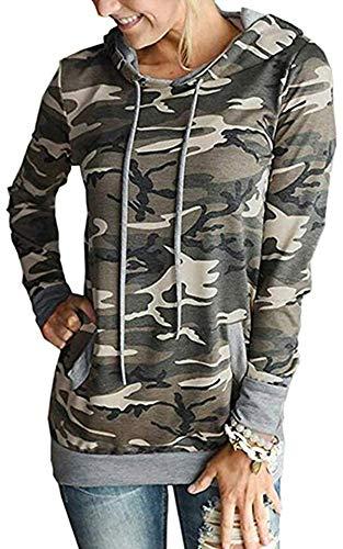 Little Hand Camo Sweatshirts Top Oberteile Hoodie Pullover mit Tasche Damen