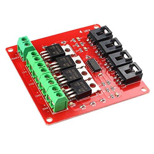 HALJIA IRF540 MOSFET - Módulo de Interruptor de 4 Canales para Arduino DIY