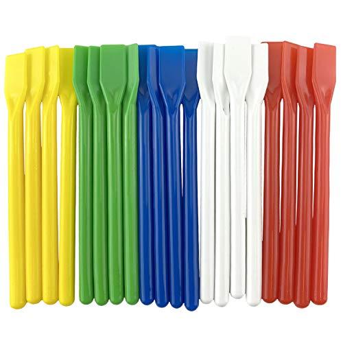 HOVUK Kleberspachtel für Schule und Klassenzimmer, 12 cm, bunt, Kunststoff, PVA, 30 Stück
