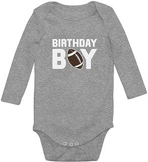 Tstars Gift for The Birthday Boy Football Baby Boy Birthday Baby Long Sleeve Bodysuit