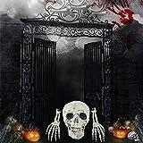 Halloween Deko Skelett Schädel Realistisch Grausigkeit Begraben Lebend Skelett Schädel Garten Hof Rasen Dekos für Halloween Garten Hof Rasen Dekoration - 5