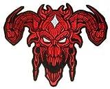 Patch per il diavolo (rosso) ricamato (grande) 31 cm x 25 cm