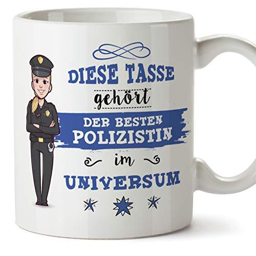 Polizistin Tasse/Becher/Mug Geschenk Schöne and lustige kaffetasse - Diese Tasse gehört der besten Polizistin im Universum - Keramik 350 ml