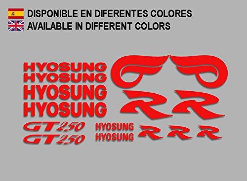 Ecoshirt E6-V8P2-YGVZ Pegatinas Hyosung GT 250 F213 Stickers Aufkleber Decals Adesivi Bike Moto GP, Rojo