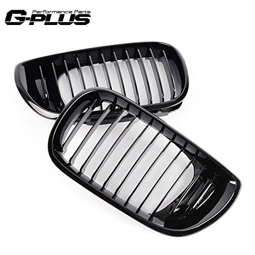 G-PLUS Gloss Black Kidney Front Bumper Hood Grilles Sports Grill for BMW 3 Series 320i 325i 325Xi 330i 330Xi E46 4 Door 2002 2003 2004 2005