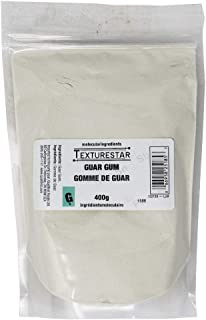 Texturestar Gum Guar 200 Mesh, 400g (14oz) | 100% Food Grade, All Natural Thickener, Better Thickener than Corn Starch, Great for Gluten-Free Baking, Can Use for Ice Cream Making and Puddings