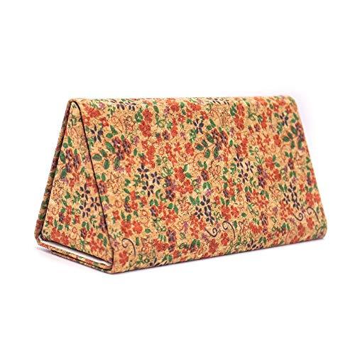 JIAMIN Estuche de corcho para gafas de sol, caja de madera suave para mujer, gafas de verano (color: L 041 C)