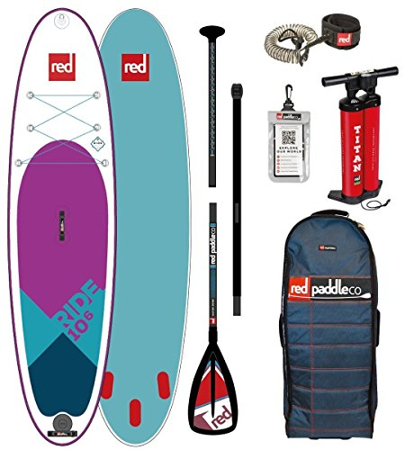 Red Paddle Co Ride 10';6 Sonderedition Aufblasbare Stand Up Paddle Board SUP + Tasche, Pumpe, Paddel und Leine/Gurt - Unisex