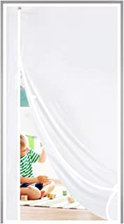 Magnetic Thermal Insulated Door Curtain Fits Door Size 32 x 80, Plastic TPU Magnet Door Covers for Front, Kitchen, Upstair...