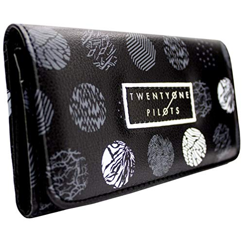 Twenty One Pilots Electropop Patterned Coin and Card Tri-Fold Purse Black