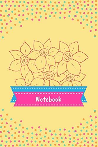 Notebook: Floral Designed Polka Dot Journal for Kids / Girls ~ 6' x 9'