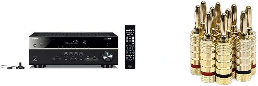 Yamaha RX-V385 5.1-Channel 4K Wholesale Ultra with HD Receiver New Orleans Mall Bluetoot AV
