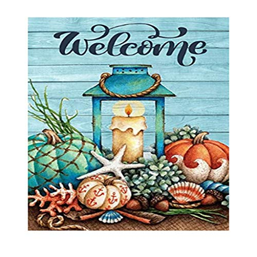 Anbys 5D Diamond Painting Kits for Adults Kids DIY Full Drill Diamond Art Craft Gift for Home Wall Decor Pumpkin and Candle (15.8 x 15.8 in)