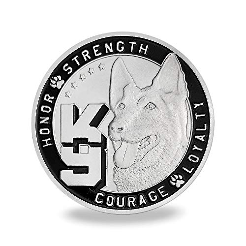 K9 Police Dog Challenge Coin Law Enforcement Military Coin