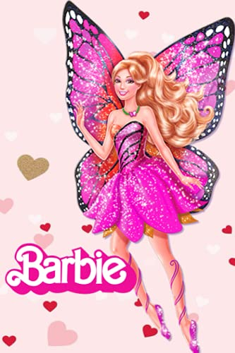 Barbie Notebook: Barbie Notebook White Paper Blank Journal with Black Cover Medium Size 6'' x 9'' with 110 Pages Makes A Wonderful Gifts For Love Ones