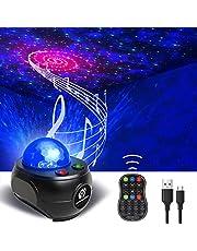 Proyector de Luz Estelar, Ninthealth LED de Luz Nocturna Giratorio Galaxia Lámpara de Nocturna Estrellas y Océano Proyector con Reproductor de Música/Control Remoto/Bluetooth/Temporizador/Remoto