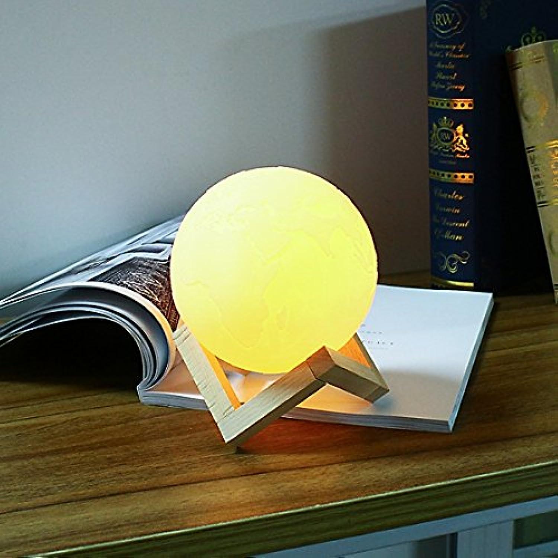 Hillhead 15 cm 3D Erde Lampe USB Wiederaufladbare Touch Sensor Farbwechsel LED Nachtlicht Geschenk DC5V