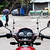 Chifans Motorrad Windschutzscheiben Elektrofahrzeuge Windabweiser Roller Windschutzscheibe Windabweiser Kratzschutz Bildschirm bruchsicher kaltfest