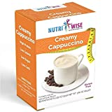 NutriWise - Classic Cappuccino Drink | High Protein, Low Calorie, Low Carb, Low Fat, Gluten Free (7/box)