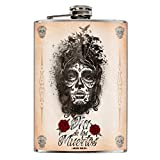 'Jack' s Inn 54–Petaca de acero inoxidable–Flask'Catrina 240ml/8oz Plata Exclusives regalo