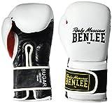 BENLEE Rocky Marciano Sugar Deluxe - Guantes de Boxeo (18 oz), Color Blanco