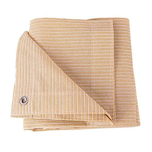 Filet D'ombrage Beige Tissu de Toile D'ombrage avec Oeillets - Toile D'ombrage Sun Pergola, Tissu Perméable en HDPE pour Animalerie/Cour/Jardin (Size : 1×1m)