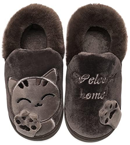Vunavueya Donna Pantofole Scarpe Uomo Inverno Pantofola a Collo Basso Caldo Peluch Ciabatte di...