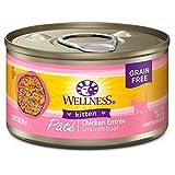 Wellness Natural Pet Food Natural Grain Free Wet Canned Cat Food, Kitten,...