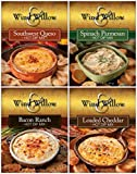Wind & Willow Hot Dip Mix 4 Flavor Variety Bundle: Spinach and Parmesan, Southwest Queso, Loaded...