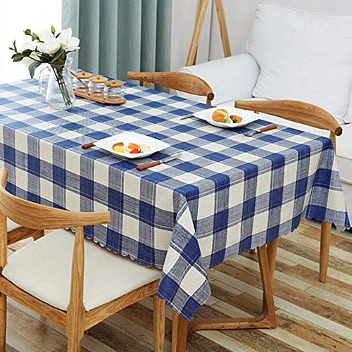 ZHUOBU Modern geruit tafelkleed, waterdicht, oliebestendig, ijzer-proof tafelkleed, rechthoekig, bijzettafel, picknickbescherming