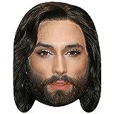 Celebrity Cutouts Conchita Wurst (Long Hair) Maske aus