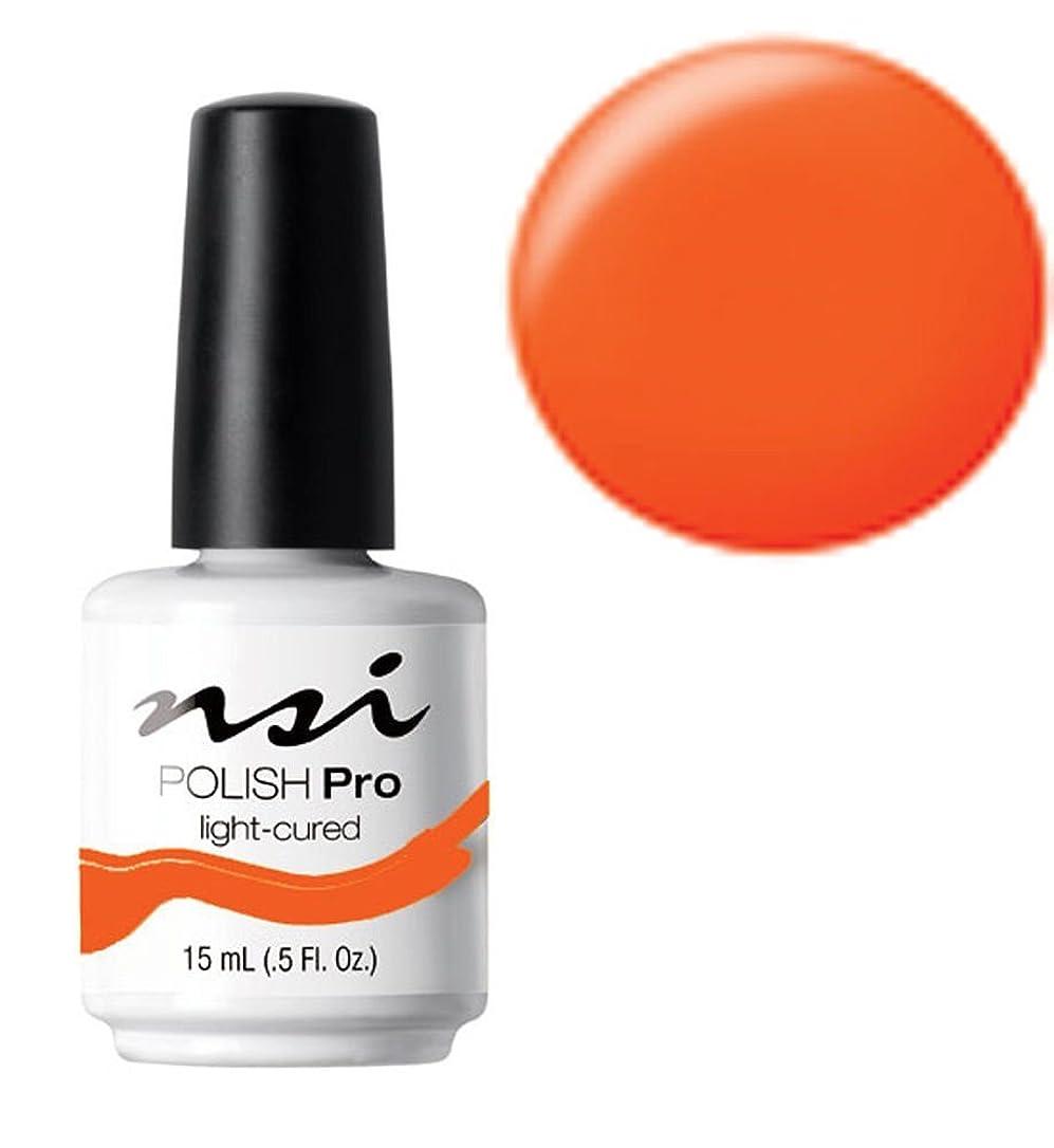 書店盟主曖昧なNSI Polish Pro Gel Polish - Hot Orange - 0.5oz / 15ml