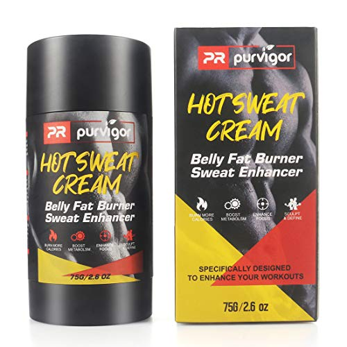 Hot Cream - Workout Enhancing Heatless Sweat Booster - Slimming Stomach & Belly Gel Targets Problem Areas for Increased Sweat & Circulation