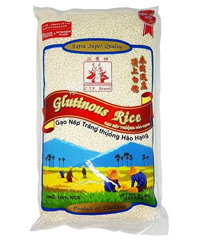 Thai Sweet Rice Gluttinous Rice Extra Super Quality 5 lbs. (2.27 kgs)