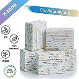 Cotons-tiges Biodégradables en Bambou de Culture Biologique, Écologique et Polyvalent, Coton BIO Durables et Compostables, 5 Boîtes de 200 (1000),7.5 cm, Zéro Déchet, OceanSafeLine