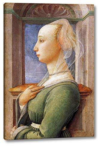 """Portrait of a Woman by Fra Filippo Lippi - 16"""" x 24"""" Gallery Wrap Canvas Art Print - Ready to Hang"""