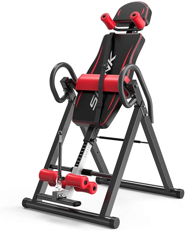 逆さぶら下がり フィットネス機器逆さま逆さまマシンホーム逆さまマシン 腹筋トレーニング 健康 (色 : ブラック, サイズ : 152*74*115CM)