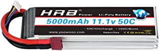 HRB 3S 11.1V 5000mAh 50C LiPo Battery Pack with Dean T Connector Plug Compatible for RC DJI F450 Quadcopter RC Helicopter ...