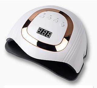 YYMM Lámpara de uñas LED, lámpara UV con Sensor Inteligente 168W Nails Secker Gel Light con 4 temporizadores Manija portátil Sensor automático de Espacio Grande, para geles pulidores