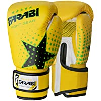 Farabi Niños Guantes de Boxeo, MMA, Muay Thai Junior Punch Bag Mitts Amarillo 6oz