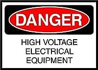 High Voltage Electrical Equipment Danger 注意看板メタル安全標識注意マー表示パネル金属板のブリキ看板情報サイントイレ公共場所駐車ペット誕生日新年クリスマスパーティーギフト