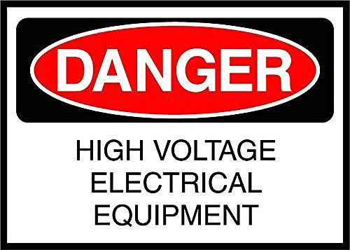 High Voltage Electrical Equipment Danger Blechschild Retro Blech Metall Schilder Poster Deko Vintage Kunst Türschilder Schild Warnung Hof Garten Cafe Toilette Club Geschenk