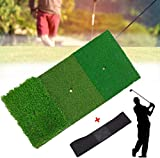 WANSHI Golf Practice Mat Portable Personal Practice Pads Artificial Grass Thick Lawn Turf Carpet Training Aids...