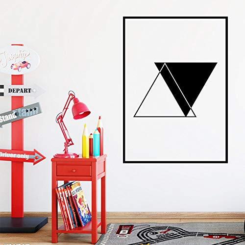 Yaonuli kinderkamersticker kunst zwart en wit waterdicht muursticker achtergrond muursticker
