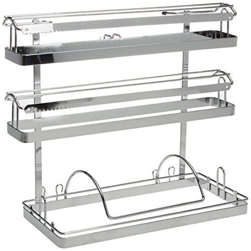 Wenko Magic-Loc Portarrollos de Cocina Trio, Metal, Plata Brillante, 16x33x32 cm